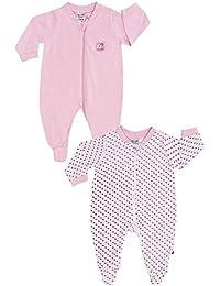 Jacky Baby Mädchen Schlafanzüge langarm 2er-Pack rosa 321706