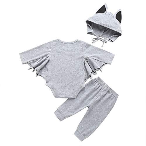 Allence Baby Halloween Kleidung,Niedlich Kleinkind Neugeborenes Baby Jungen Mädchen Halloween Cosplay Kostüm Strampler Hut Bat Outfits Set (Verrückte Weihnachten Kostüm Idee)
