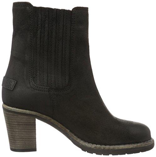 88d5d22edc8330 ... Shabbies Amsterdam Damen Shabbies 15cm Chelsea Booty Caramato Sohle Boots  Schwarz (Black)