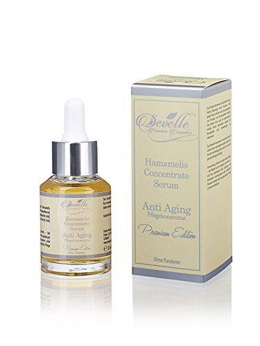 Anti Aging Sofort Effekt Serum - Hochkonzentriertes Hamamelis Anti Falten Soforteffekt Pflege Konzentrat für Haut Gesicht Dekolleté und...