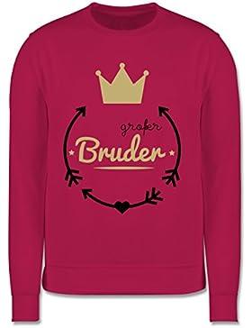 Geschwisterliebe Kind - Großer Bruder - Krone - Kinder Pullover