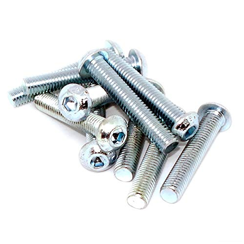 Sourcingmap M8/x 20/mm perno presa esagonale testa tappo a vite inserto cilindro dadi 10/pz