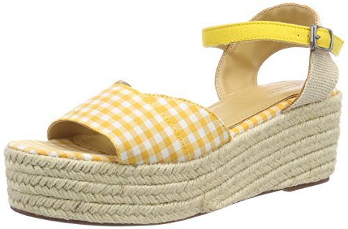 ESPRIT Damen NEA Wedge Plateausandalen, Gelb (Yellow), 39 EU