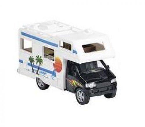Wohnmobil schwarz Modellauto Spritzguss