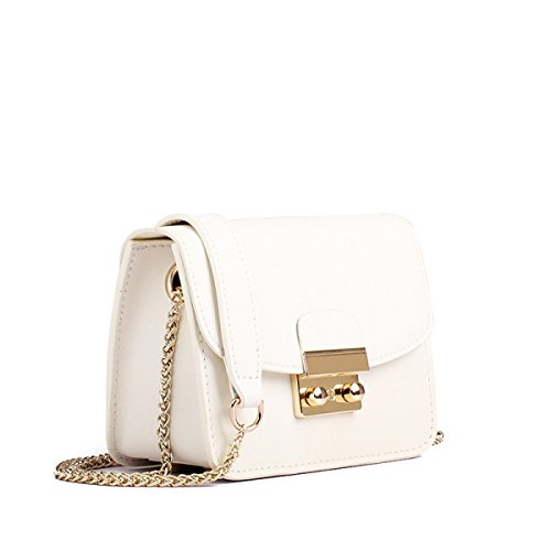 WU Zhi Lady In Pelle Piccola Borsa Quadrata Spalla Messenger Bag White