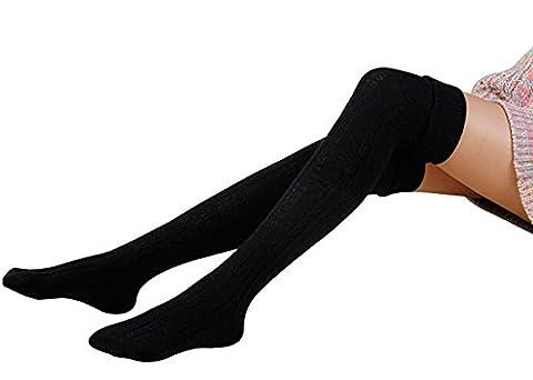 Fletion Damen Winter Warme Beinlinge Boots Strümpfe Kniestrümpfe Stricken Lange Leggings Boot-Abdeckung Socken