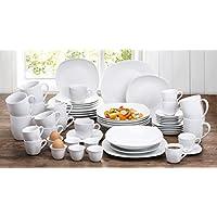 54 Athena-Set di piatti da portata, colore: bianco