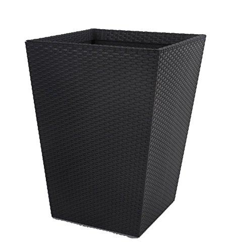 Keter -   Maceta grande de base cuadrada, 145 litros, Color gris grafito