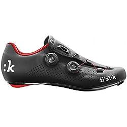 Fizik R1B - Zapatillas de ciclismo, Unisex adulto, Negro/Rojo, 42