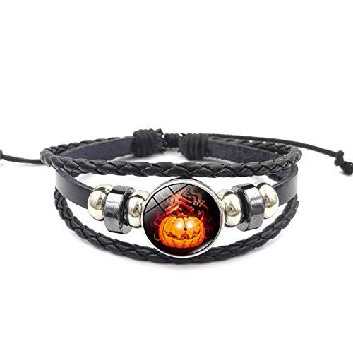Blisfille Halloween Kürbis Zeit Edelstein Geflochten Perlen Armband Mode Damen Armband Damen Herren Geschenk