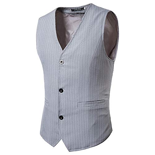TEBAISE Elegante Herren Weste Anzugweste Casual Business stilvoll Vest Formal Slim Fit Retro Blazer (Gefeiert Warum Halloween Wird)