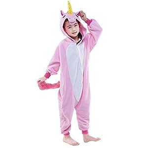 Rainbow Fox Niños Unicornio Pijama Monos Dibujos Animados Animal Disfraz Cosplay Ropa por Niños 5