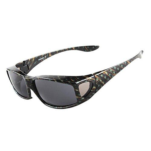 XUNQI Männer und Frau Polarisierte Sonnenbrille Anti-UV-Blendschutzlinse Farbige Star Semi-Frame-Brille kann Myopie Brille tragen