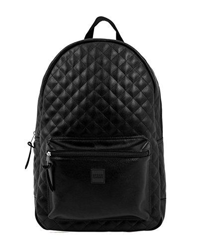Zaino Urban Classics - Diamond Quilt Leather Backpack nero