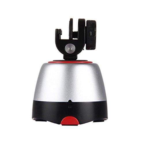 MTTLS 360-Grad-Drehung Panorama Stativkopf Rotation Mit Fernbedienung Build-In Bluetooth Für Smartphones Gopro DSLR-Kameras,Red Red Mobile
