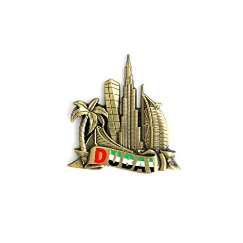 Kühlschrankmagnet mit Städtemotiv, z.B. Venedig, Paris, Rom, Prag, Amsterdam, Barcelona, Dubai, Thailand, aus Metall, tolles Souvenir, schöner Dekoartikel, metall, Brass Dubai