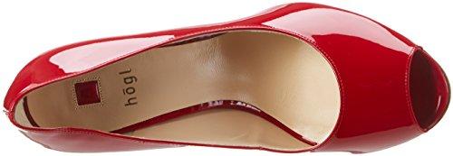Högl 3 10 9804 4000, Escarpins Bout Ouvert Femme Rouge (Red4000)