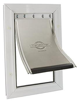 PetSafe - Grande Chatière Staywell en Aluminium (L) - avec Système de Verrouillage - Robuste - Isolante -  (4,5x32,9x50,3cm)