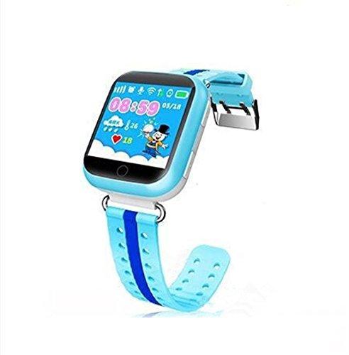 Preisvergleich Produktbild Leydee Smart Watch Baby Wristband Kinder Uhr Telefon mit WIFI 1.54inch Touchscreen SOS Anruf Ort Gerät GPS Tracker für Kinder Safe , blue