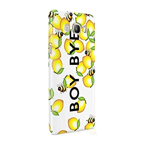 Boy Bye Cute Bumblebees & Lemons Hard Thin Plastic Phone Case Cover For Samsung Galaxy J5 2016