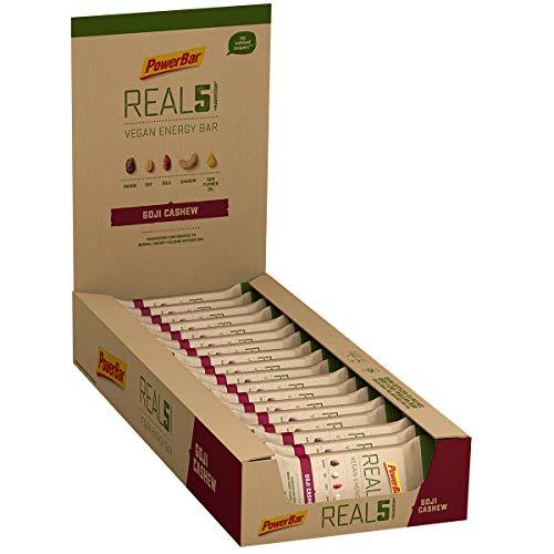 PowerBar Real5 Vegan Energy Bar Goji Cashew, Veganer Energieriegel, 1er Pack(1 x 1.17 kg)