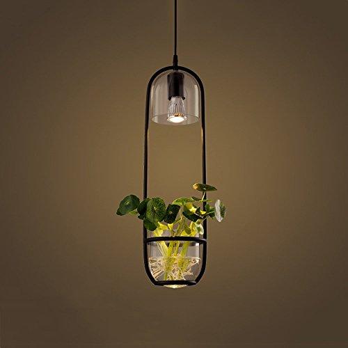 GRY Nordic Modern Einfache Kreative Persönlichkeit Restaurant Pendelleuchte, Mode Einzelkopf Anlage Pendelleuchte Scheinwerfer,Schwarz