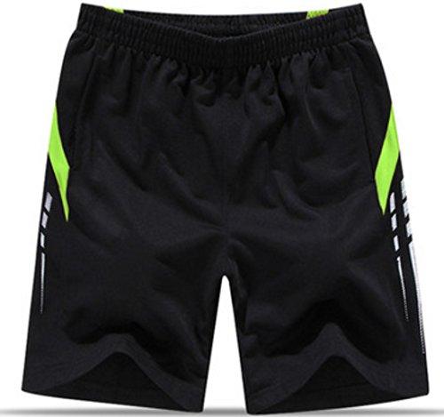 Men's Knee Length Cotton Fashion Running Shorts black 03