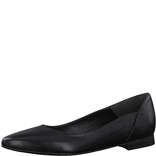 Tamaris 1-1-22156-22 Damen KlassischeBallerinas,Flats,Sommerschuh,klassisch elegant,Black,39 EU