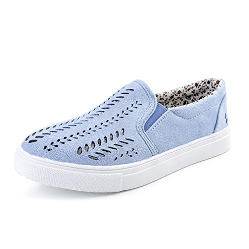Transer DX-02018, Sandales Compensées Femme Bleu