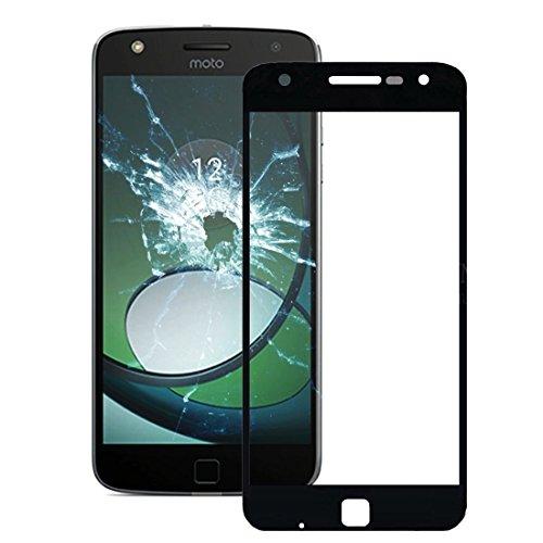 Motorola Moto Z Play / XT1635 Front Screen Outer Glass [ Schwarz ] Frontglass Glass Display-Glas Screen Ersatzdisplay Displayglass Frontglas mit Rahmen (Moto-screen-ersatz)