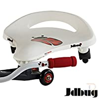 JD Bug Kids Swayer Scooter Ride On - White / Red