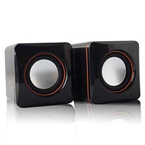 omufipw Mini tragbarer kabelgebundener Lautsprecher USB Audio Musik Player Stereo Lautsprecher für MP3 Laptop PC Desktop schwarz Schwarz 160 * 90 * 80 mm - Mp3-player Desktop
