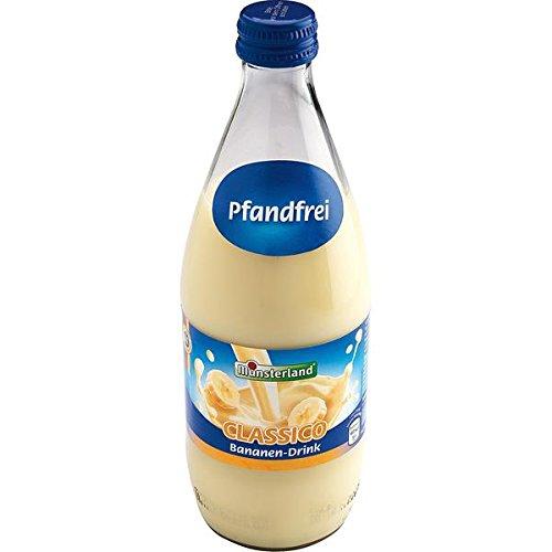 24 Flaschen a 500ml Münsterland Bananen Milch-Drink Trink Milch