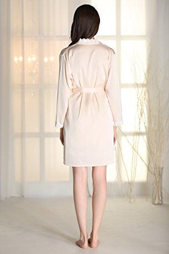 Rainbow Fox 2017 Été Nouveau aux femmes vêtement de nuit sexy vêtements de nuit lingerie Creux Harnais conception Soie Satin pyjamas pour Dame Champange