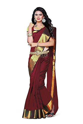 BuyOnn Sarees For Women Latest Design Party Wear Multi Color Cotton Silk...
