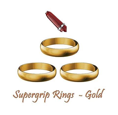 5Sets Harrows Supergrip Dart Stiel Ersatz Greifer Ringe–5Farben erhältlich, gold