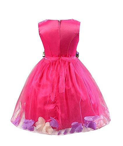 Imagen de katara 1710–fijo de vestido para niña con falda de tul y flores dekors, color rosa, gr . 110/116 etiqueta 120  alternativa
