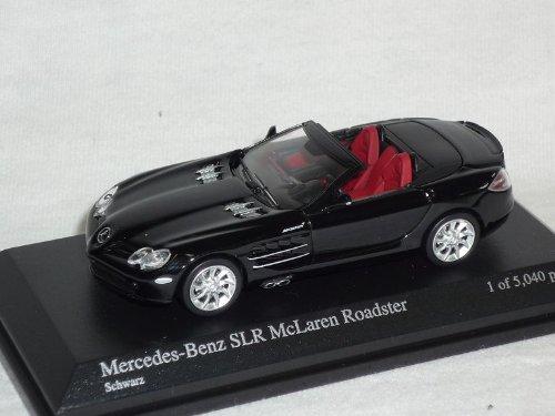 mercedes-benz-slr-mclaren-cabrio-roadster-schwarz-1-64-minichamps-modell-auto-modellauto