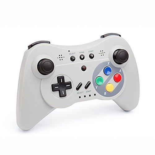 QUMOX Controlador Mando de Juego Portátil Gamepad inalámbrico de Bluetooth para la Consola de Nintendo Wii U, Gris
