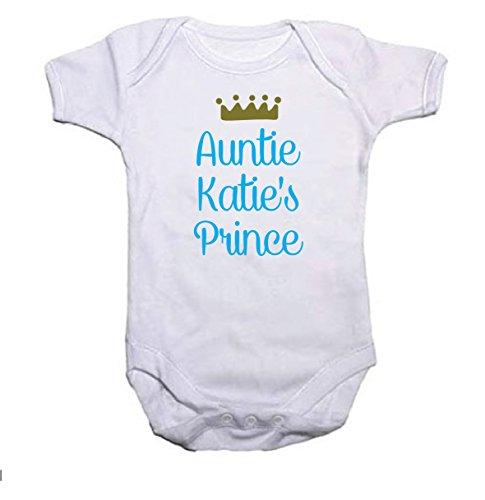 Crown Prince & pour gilet de bébé Cadeau de Baby Shower ajouter un nom - Blanc - 3 mois