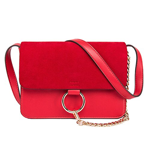 Adatti La Signora Messenger Bag Multi-color Red