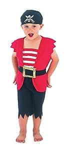 Henbrandt - Costume Déguisement pour Enfant - Pirate - 3 ans