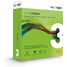 TELL ME MORE Webpass - French, English, Spanish, German, Italian or Dutch 3 Months Online Access (Mac/PC/Linux)