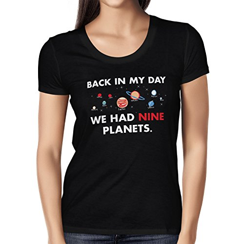 TEXLAB - Nine Planets - Damen T-Shirt Schwarz