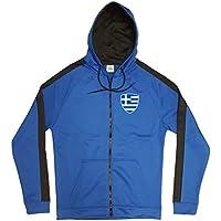Griechenland Jacke Sweater Royal GO Hellas Trikot Look Zip Nation Fussball  Sport 34241d60754