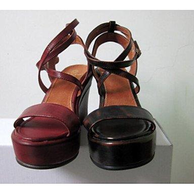 Scarpe Donna FYZSDONNA stivali invernali Mary Jane Pu casual tacco grosso US5 / EU35 / UK3 / CN34