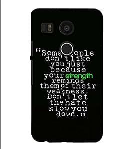 Fuson Designer Back Case Cover for LG Nexus 5X :: LG Google Nexus 5X New (Some people don't like you)