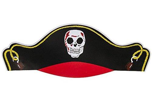Piratenhut aus Pappe | 12er Set | Mitgebsel zur Piratenparty | Seeräuber