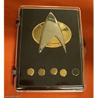 STAR TREK COMMUNICATOR + RANK PIN SET 6 pieces in a box (accesorio de disfraz