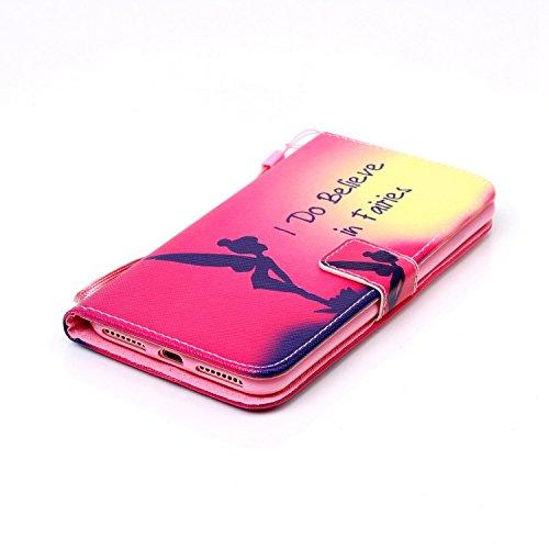 Custodia per Apple iPhone 7, TOCASO Flip Wallet Case PU Pelle [Strap/Lanyard] Caso per Apple iPhone 7 Portafoglio Cover Ultra Sottile Leather Protettivo Cases Covers Shell ID Carta Slots Caso Guscio C Ragazza